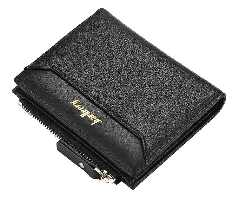 Чоловічий гаманець BAELLERRY DR023 Young Style Short портмоне Чорний (SUN5135)