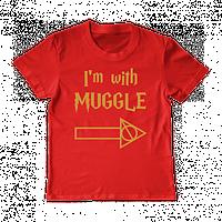 """Футболка """"I'm with muggle"""", фото 1"""