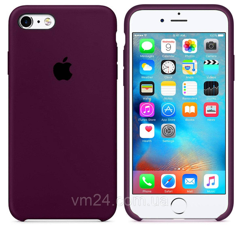 Силиконовый чехол Apple Silicone Case Marsala для iPhone 7/8