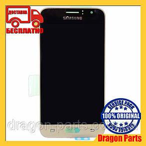 Дисплей Samsung J120 Galaxy J1 с сенсором Золотой Gold оригинал , GH97-18224B, фото 2