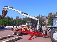 Полуприцеп тракторный лесовозный We-12D/RDM (усиленный) с манипулятором (Weimer), фото 2
