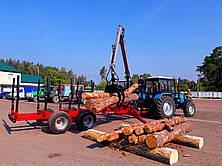 Полуприцеп тракторный лесовозный We-12D/RDM (усиленный) с манипулятором (Weimer), фото 3