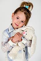 Детский пиджак для девочки Верхняя одежда для девочек Artigli Италия A06655 Голубой