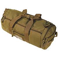 Тактическая дорожная наплечная сумка-баул MFH MOLLE койот объем 12л, фото 1