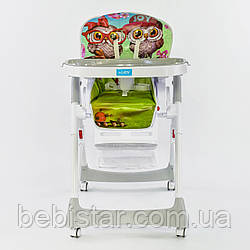 Детский стульчик для кормления зеленый JOY
