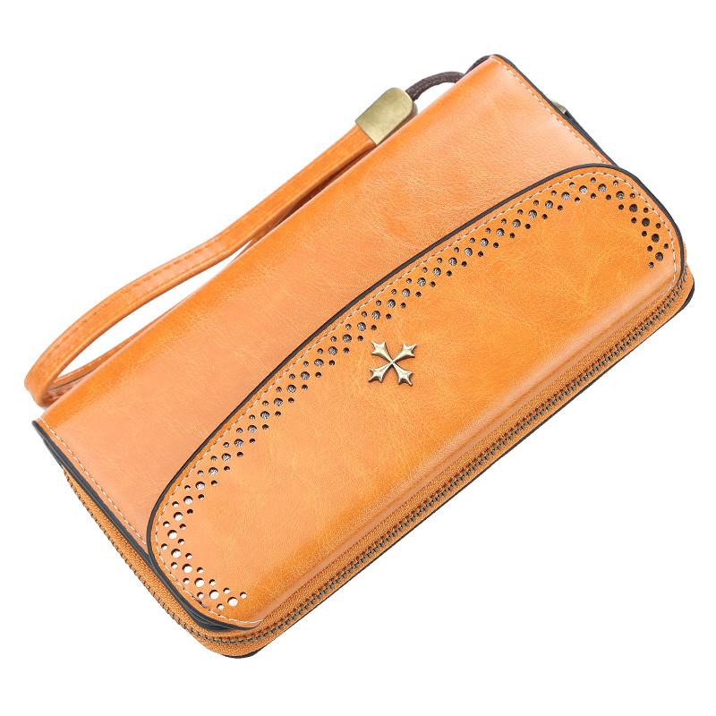 Жіночий гаманець BAELLERRY N1630 Woman Long клатч з ремінцем Світло-Коричневий (SUN5137)