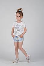 Детские шорты для девочки Artigli Италия A06325 Голубой