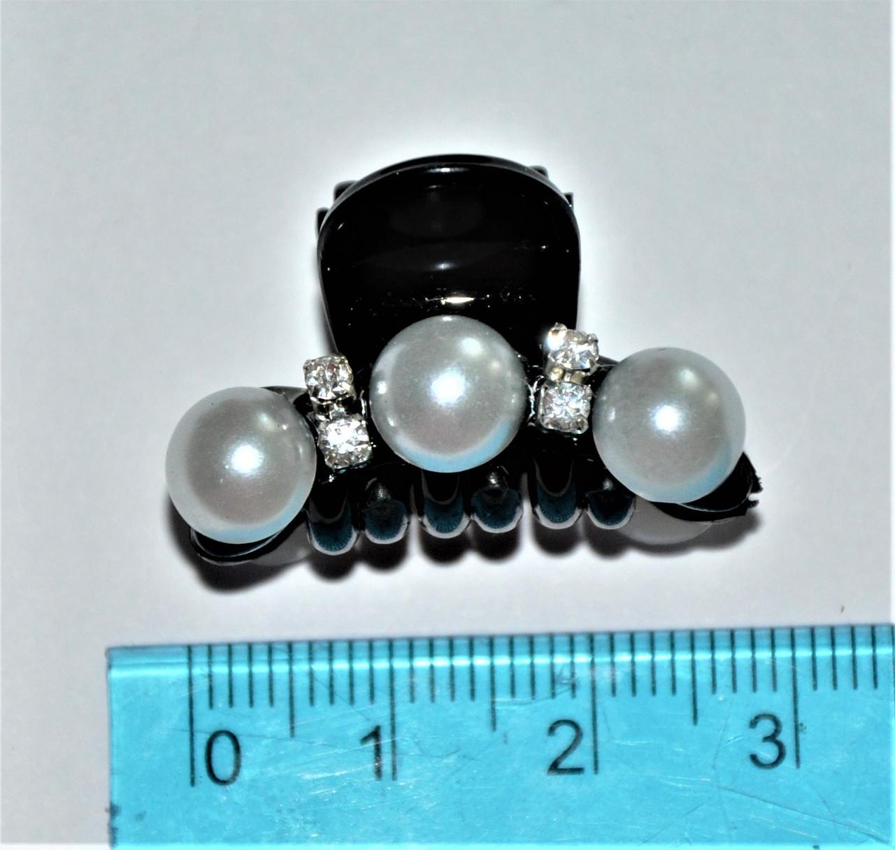 Крабики для волосся c перлами (12 шт)