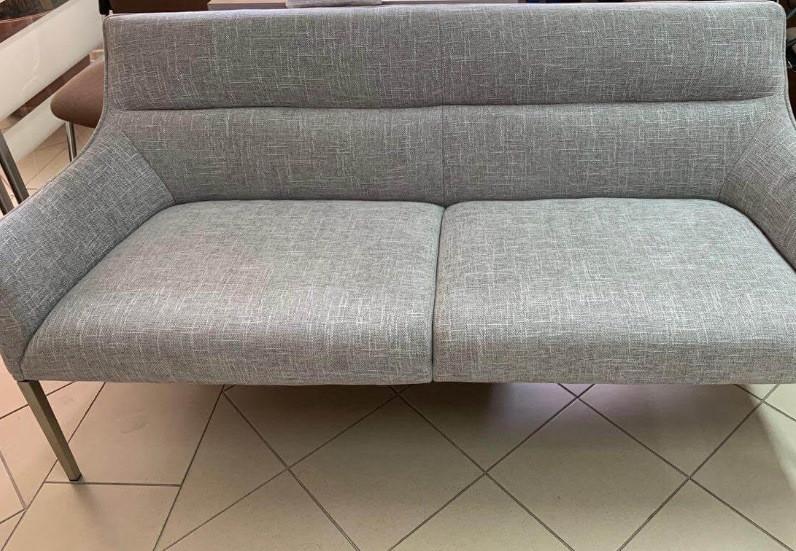 Кресло - банкетка MERIDA (Мерида) светло- серая от Niсolas, ткань