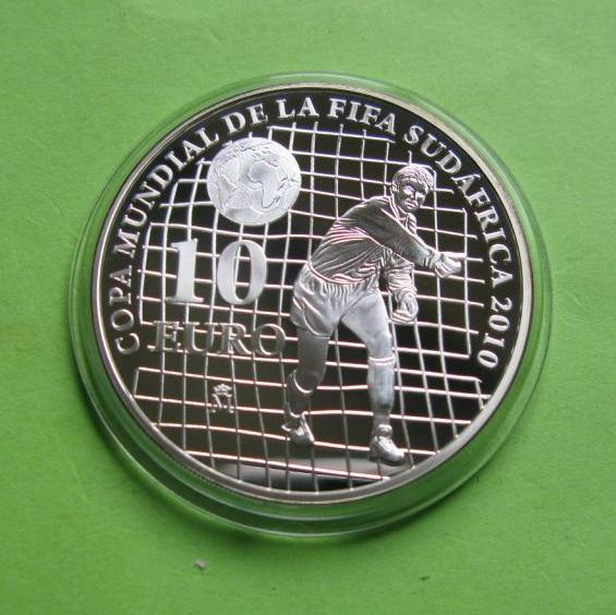 Испания 10 евро 2009 г. Футбол , чемпионат мира в ЮАР 2010