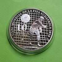 Испания 10 евро 2009 г. Футбол , чемпионат мира в ЮАР 2010, фото 1