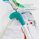 Детский стульчик для кормления бирюзовый JOY , фото 3