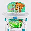 Детский стульчик для кормления бирюзовый JOY , фото 5