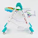 Детский стульчик для кормления бирюзовый JOY , фото 8