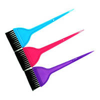 Кисть для покраски волос YRE-216 широкая цветная
