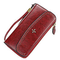 Жіночий гаманець BAELLERRY N1630 Woman Long клатч з ремінцем Червоний (SUN5139)