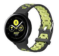 Спортивный ремешок Primo Perfor Classic для часов Samsung Galaxy Watch Active / Active 2 - Black&Green