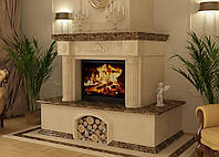 Каминые порталы из мрамора - Облицовка каминов мраморной плиткой