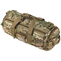 Тактическая дорожная наплечная сумка-баул MFH MOLLE мультикам объем 12л