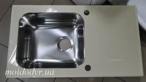 Мойка  Alveus кухонная стеклянная 780x435x190 кремовый