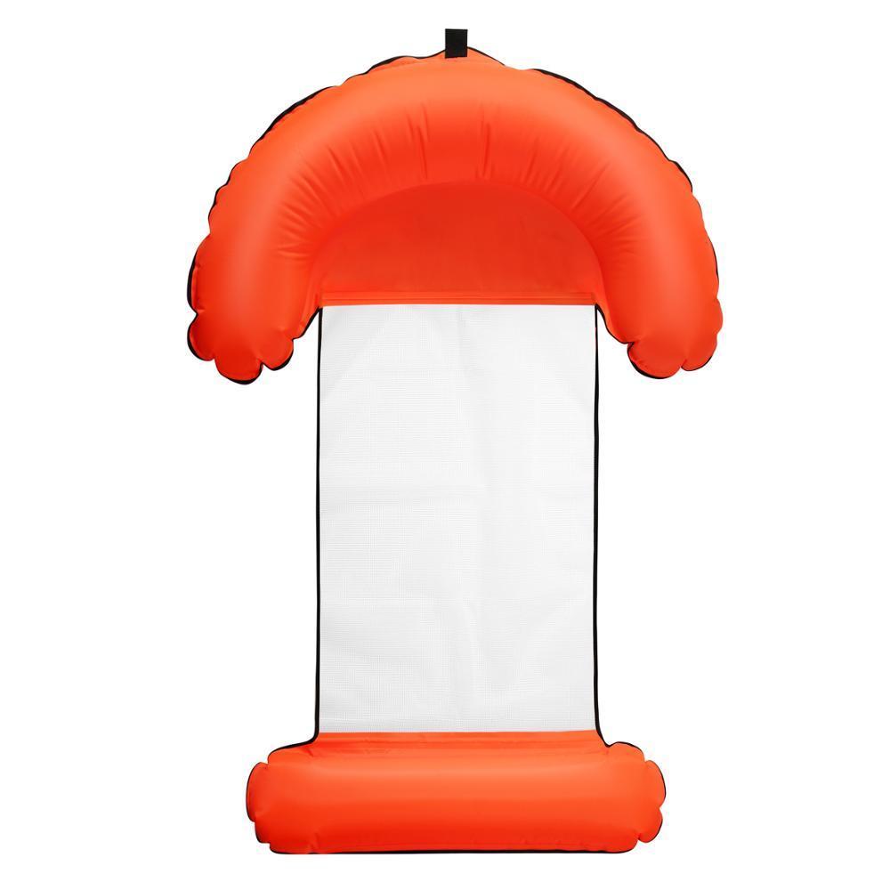 Складаний надувний гамак-матрац THENICE Pool Float для плавання 4 в 1 Червоний (SUN5142)
