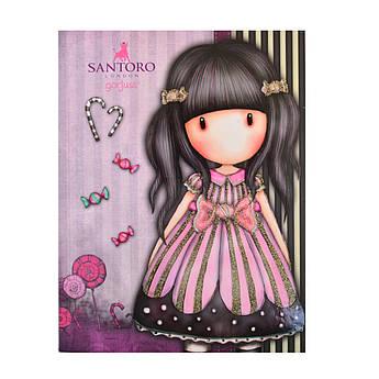 "Блокнот А5/64 КЛ. 7БЦ, Уф-выб + глиттер ""Santoro Candy"" YES"