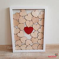 Картина з серцями для побажань, розмір 30*40 см, на 30-40 сердець, фото 1
