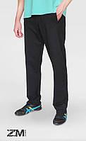 Мужские трикотажные спортивные штаны насыщено черные - ткань Пинье