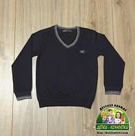 Пуловер с V-образным вырезом Armani, темно-синий и черный