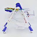 Детский стульчик для кормления синий JOY, фото 3