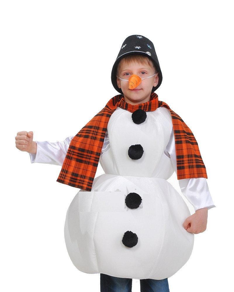 Снеговик карнавальный костюм для мальчика \ Размер 116-140 \ BL - ДНг18