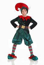 Новогодний эльф карнавальный костюм для мальчика \ Размер 110-116; 122-128; 134-140 \ BL - ДНг19