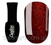 Гель-лак Luxton № 002 (темно-красный с красными блестками), 10 мл