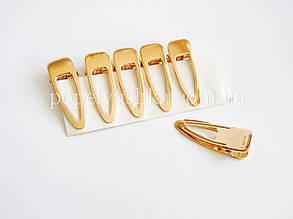 Заколка пластикова золота 8 см