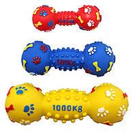 Игрушка виниловая гантель мина с шипами, лапками и косточками 14см EV057 ZooMax