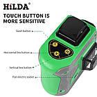 Лазерный уровень Hilda 3D 12 линий ☀ ЗЕЛЕНЫЙ ЛУЧ ☀, фото 6