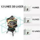 Лазерный уровень Prostormer 3D 12 линий ★ ЗЕЛЕНЫЙ ЛУЧ ★, фото 8