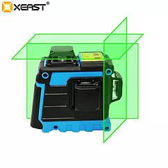 !ЗЕЛЕНЫЙ ЛУЧ! Лазерный уровень Xeast 3D 12 линий, лазерний рівень