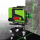 ♦ ЗЕЛЕНЫЙ ЛУЧ + ПУЛЬТ ♦ Лазерный уровень Hilda 3D 12 линий, фото 8