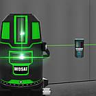 Лазерный уровень WOSAI WS-X5 5 линий 6 точек ЗЕЛЕНАЯ ЛИНИЯ нивелир, фото 6