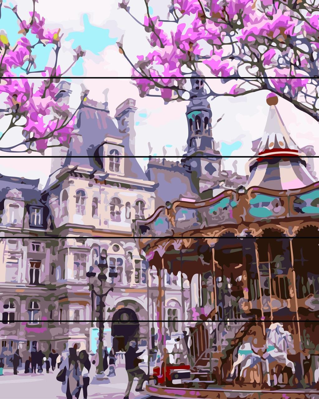 Живопись по номерам на дереве Площадь в Праге Rainbow Art RA-AS0147 40 х 50 см