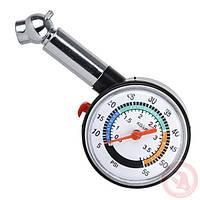 Измеритель давления в шинах стрелочный Intertool AT-1003, фото 1