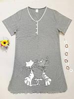 Ночная рубашка женская серая