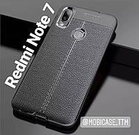 Силиконовы чехол TPU для телефону Xiaomi Redmi Note 7 под кожу чохол на сяоми ксиоми редми ноте нот 7 бампер
