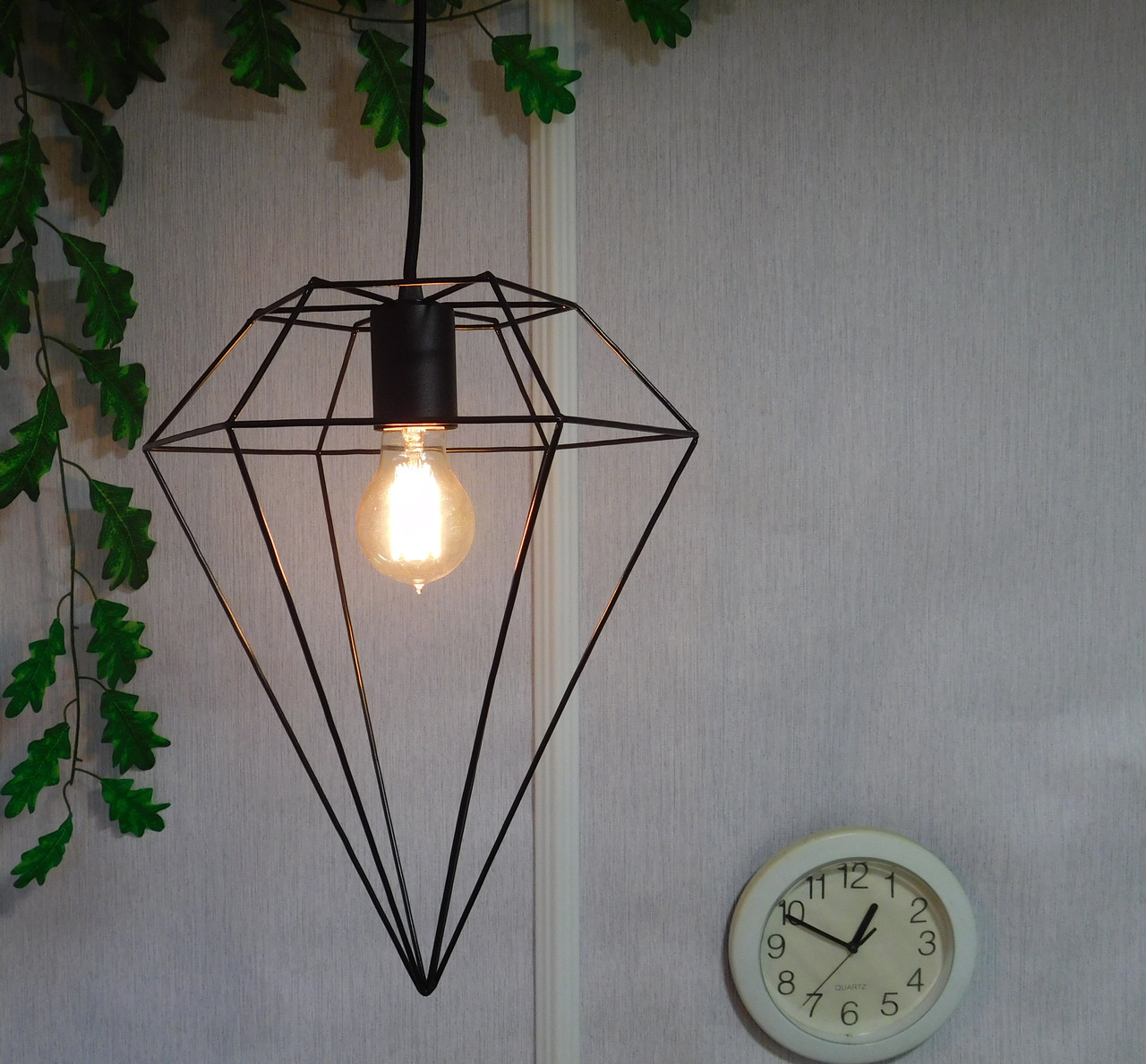 Подвесной металлический светильник, черный цвет AR-004764