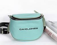 Женская бирюзовая сумка на плечо David Jones (10) , фото 1