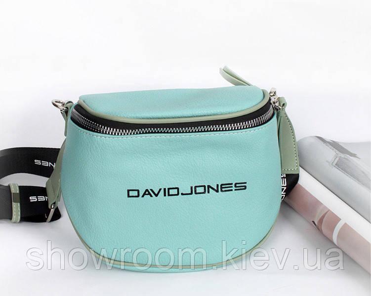 Женская бирюзовая сумка на плечо David Jones (10)