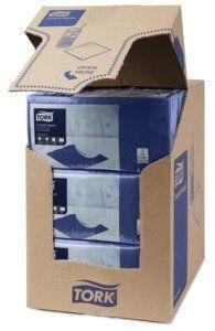 Бумажные салфетки 24х24 синие Tork Advanced 47782