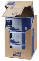 Бумажные салфетки 24х24 синие Tork Advanced 47782, фото 1