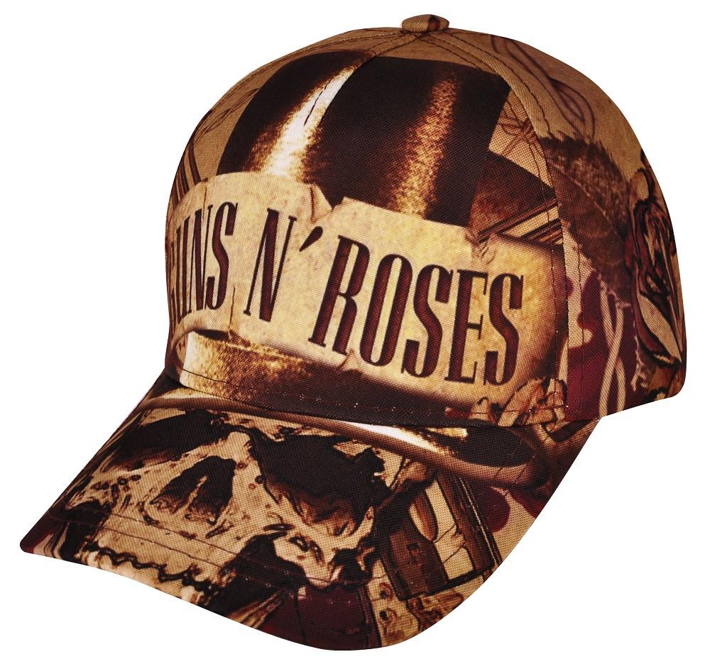 Бейсболка full print Guns N' Roses (skull)
